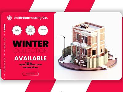 The Urban House UI/UX illustration branding artwork color flat art 3d 3d art 3dsmax 3d artist 3d animation 36 days of type
