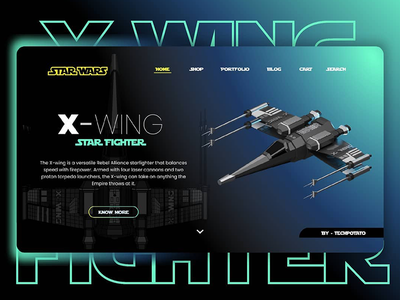 Star wars x wing - UI/UX illustration branding artwork color flat art 3d 3d art 3dsmax 3d artist 3d animation 36 days of type