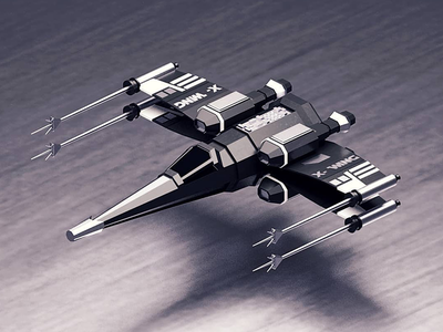 Star Wars x wing illustration branding artwork color flat art 3d 3d art 3dsmax 3d artist 3d animation 36 days of type