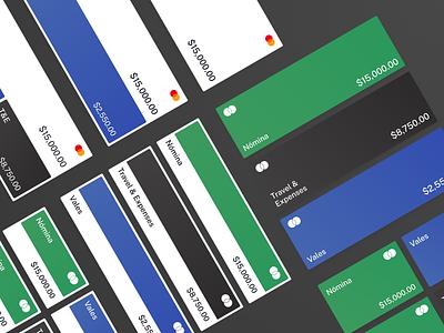 Account Components Explorations mobile design interface user experience user interface design system components finance fintech ui