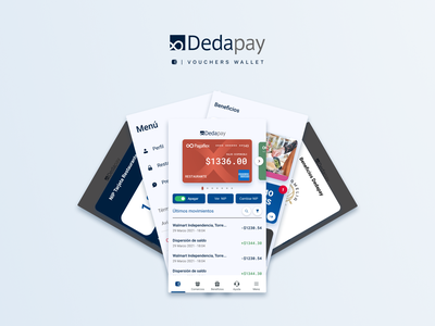 Dedapay's Vouchers Wallet vouchers financial app rewards product design ui ux cards wallet user experience user interface fintech