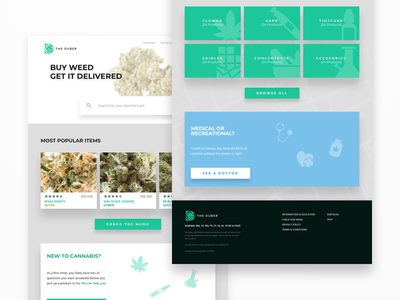 The Duber   Landing Page illustration delivery ecommerce cannabis website landing page