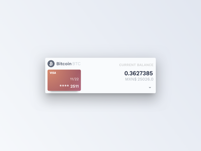 Crypto Card Detail detail balance bitcoin crypto currency ux banking card ui