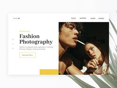 Fashion Photographer minimalism plant photo fashion photography fashion landing design uidaily web ux ui daily