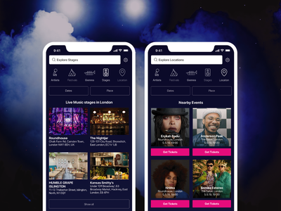 Showapp - music events and night life app