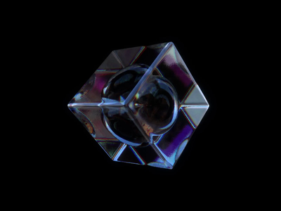 Realistic Glass Dispersion render hdri cube cycles experiments learning process animation glass concept dispersion art aesthetic abstract blender design 3d