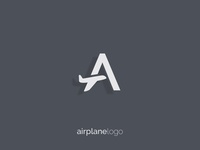 letter A airplane logo
