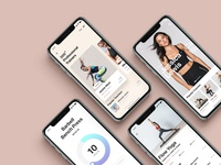 Fitness Workout Mobile App UI Design