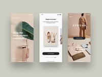 Fashion e-commerce mobile app UI Kit