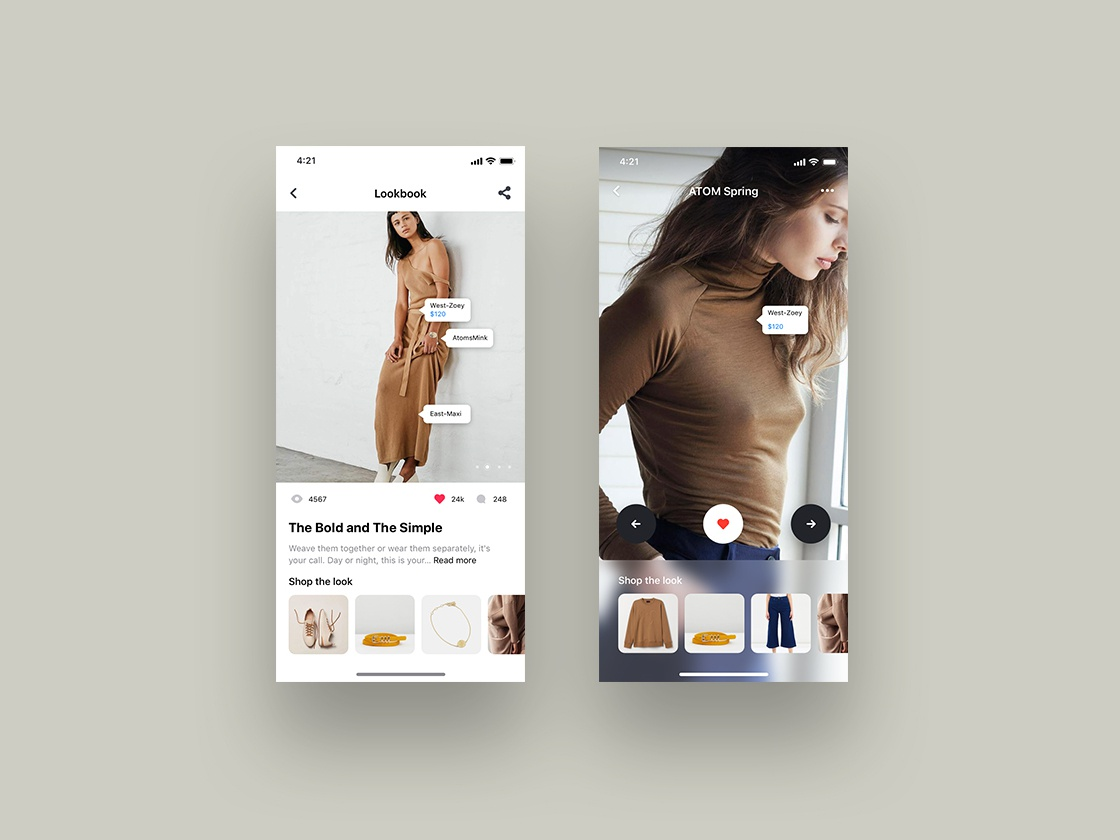 E-commerce Mobile App UI Kit 应用界面 应用 图标 fashion app fashion ecommerce app design ecommerce app ios templates template design iphone template mobile app design ui kit ui design ui app concept app
