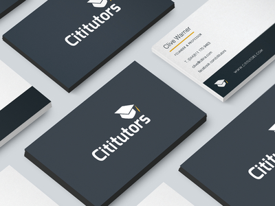 Cititutors graphic design design branding business card design business cards