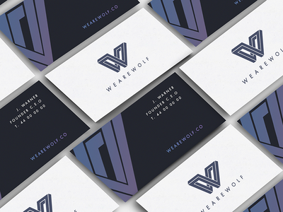 WE ARE WOLF business cards graphic design stationary brand identity branding logotype logo wolf business card business cards design