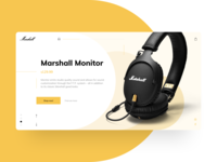 Marshall e-commerce website design