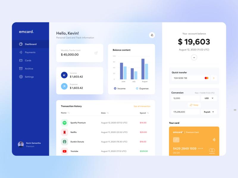 Banking Platform bank conversion transaction money transfer transfer payment finance banking analytics statistics clean app white clean design blue ui design