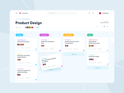 Project Management Tool project management scrum sprint clean white clean design blue dailyui ui design