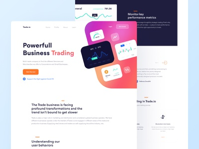 Digital Trading Website Exploration cryptocurrency bitcoin orange business big sur trading clean white blue clean design dailyui ui design
