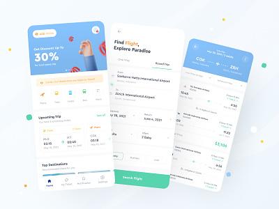 Ticket Booking App - Exploration ticket app train booking app booking flight ticket ios clean white blue dailyui clean design ui design