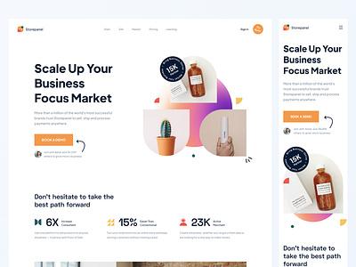 Online Shop Platform E-commerce - Landing Page clean white dailyui clean design ui design