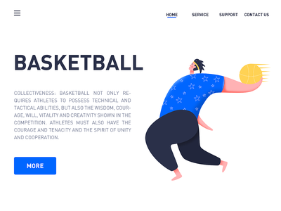 Basketball flat illustrator art clean website ui graphic design illustration web design