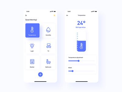 Smart home interface flat graphic design art illustration sketch app clean ux ui design