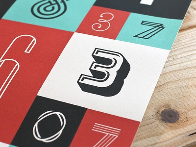 The Numbers Poster : 1 print type typography collab michael spitz michaelspitz michael spitz screen print photo poster numbers digits the numbers poster series numerals