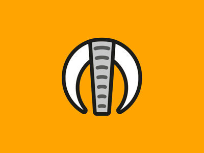 African MO - 4 tourism wildlife african elephant mo monogram logo identity branding