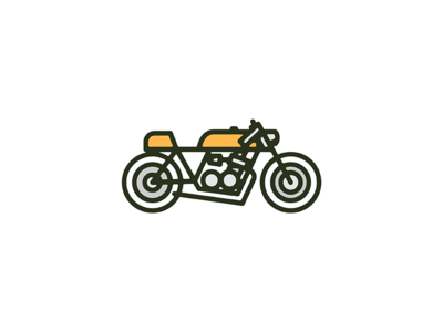Cafe Racer monoweight icon illustration motorcycle cafe racer bike series print honda