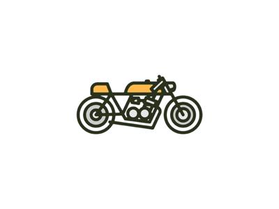 Cafe Racer monoweight icon illustration motorcycle cafe racer bike series print honda
