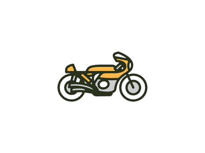 Cafe Racer : 2 monoweight benelli illustration icon print bike series cafe racer motorcycle