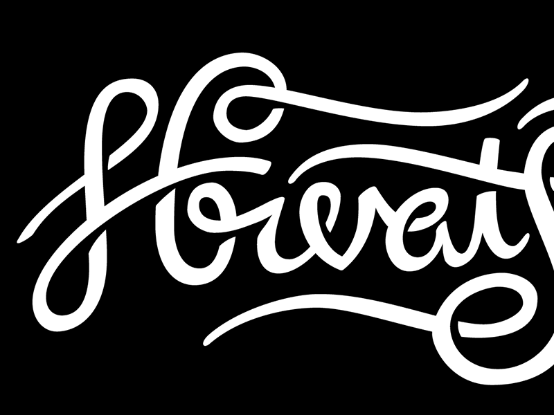 Hrvatska Script script lettering custom type typography hand lettering croatia black and white shadows