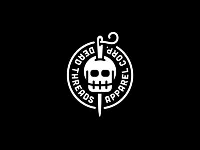 DEAD THREADS : V1 skullz badge thread apparel clothing needle identity branding logo skull
