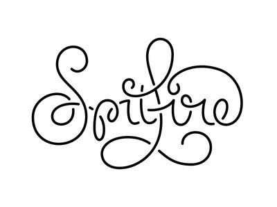 Spitfire Script lettering type typography identity branding script stencil monoweight