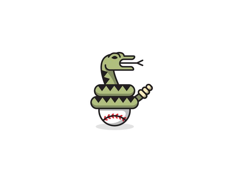 Diamondbacks snake baseball sports illustration editorial print magazine monoweight spot illustration icon