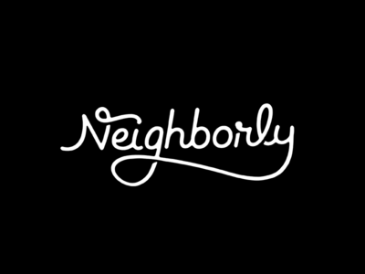 Neighborly Script lettering script type typography black and white monoweight