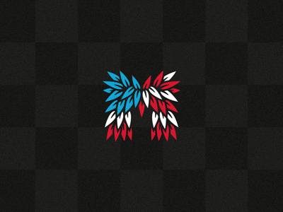 aMerica american usa m michael spitz michael spitz flag red white blue checkered croatia initial logo branding identity
