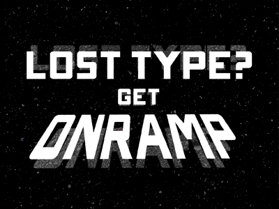 ONRAMP FONT via LOST TYPE onramp type font typography lettering black and white lost type release custom type typeface michael spitz michaelspitz