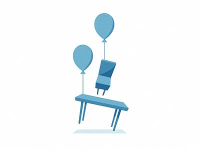 Runaway Furniture logo branding identity illustration furniture balloon decorating