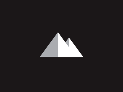 Mountain identity logo branding m mark mountain typography letter type wilderness minimal geometric