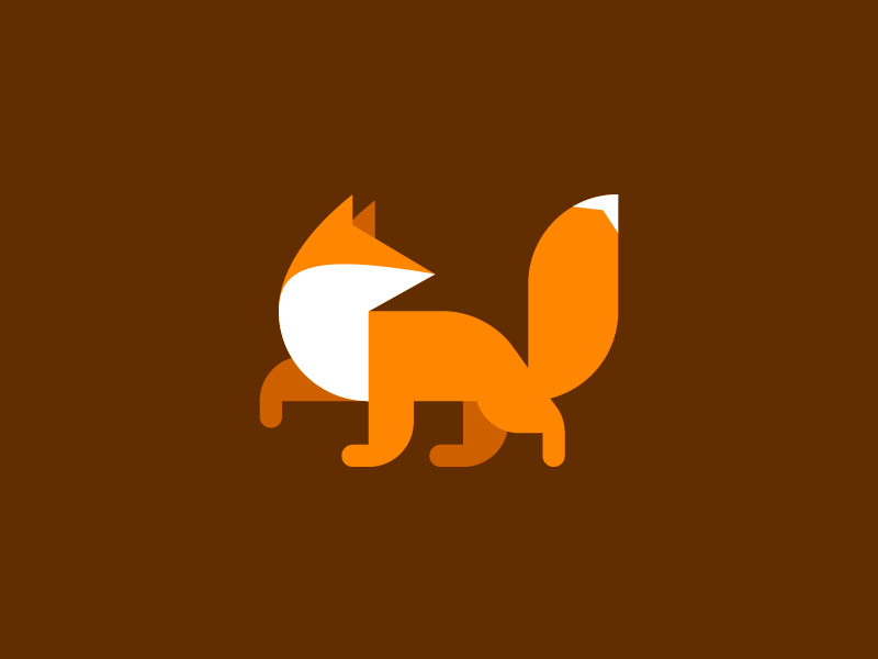 Fox mark illustration logo identity branding fox hearldry minimal