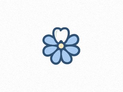 Floral Dentistry flower tooth logo branding identity logo mark dentist michael spitz michaelspitz