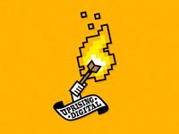 Flaming Pixels