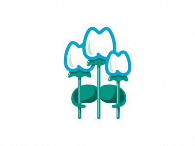 Floral Dentistry 2 flower family dentist teeth logo branding identity illustration