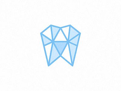 Hard Teeth diamond gem tooth bling faceted geometric logo branding identity