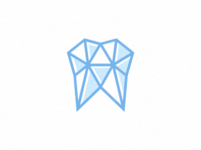 Harder Teeth tooth logo branding identity offset diamond gem dentist