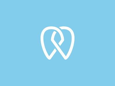 DDentistry dentist logo branding identity monogram tooth