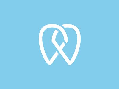 DFD Dentistry : Final logo branding identity monogram tooth dentist mark