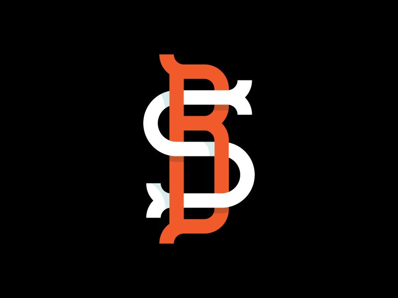 BS shading serifs branding identity logo ornamental monogram lettering typography type