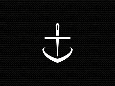 Nautical Threads iron apparel clothing logo branding identity mark black and white ocean sea anchor boat ship needle nautical michael spitz michaelspitz