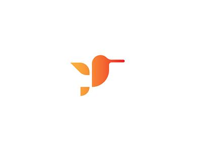 Hummingbird geometric illustration hummingbird bird mark branding identity logo