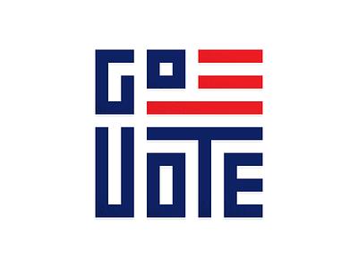 #GoVote 2016 usa design typography govote vote